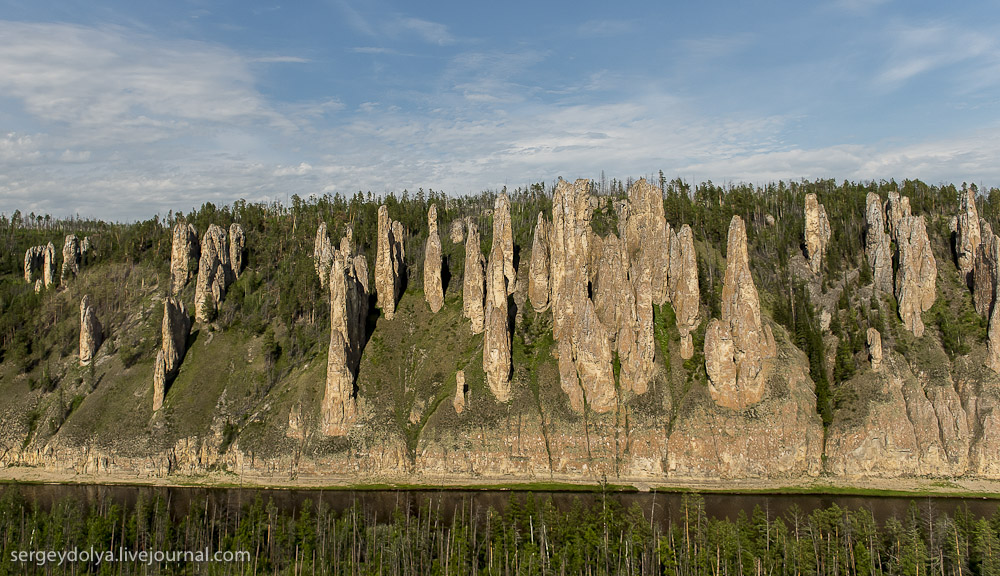 Lena Pillars - a bird's-eye view